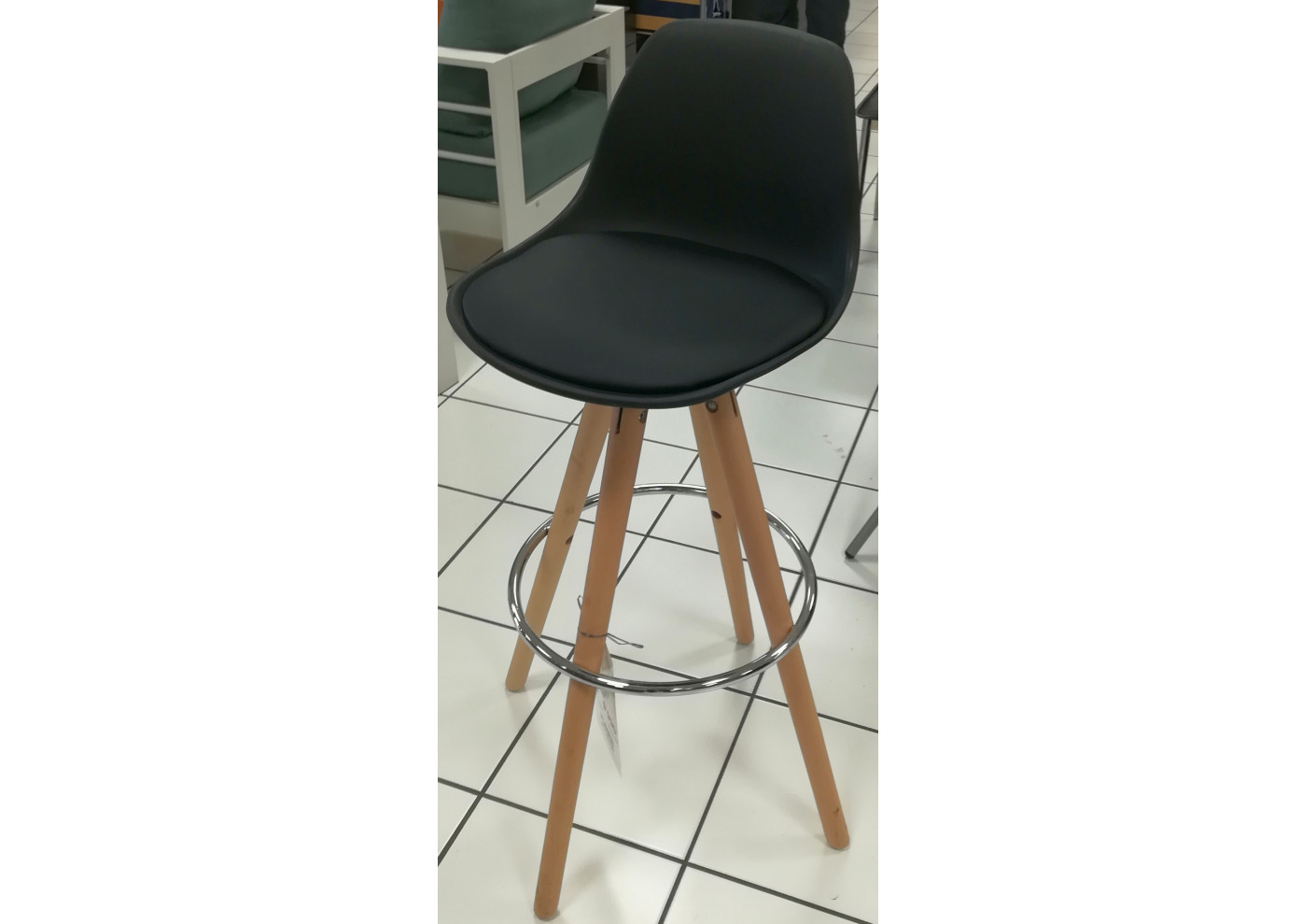 Lot De 2 Tabourets De Bar Wood Noir