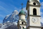 Two Bell Towers Signal the Importance of Belluno's Church