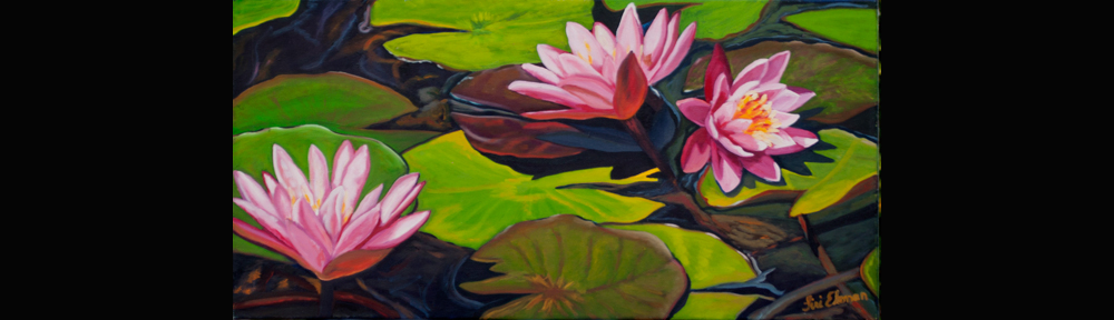 'Water Lilies' by Siri Ekman (acrylic on canvas).