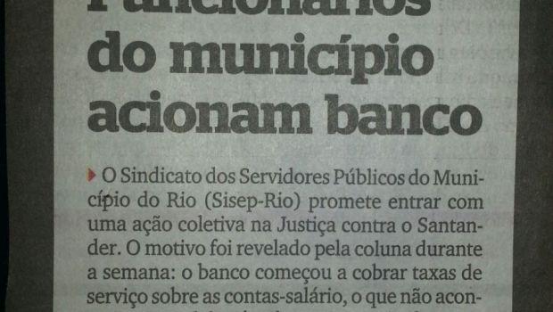 Em decorrência do carnaval o atendimento do SISEP RIO retornará no dia 11/02/2016, os interessados em ingressar com ação judicial contra o Banco Santander devem procurar a entidade a partir […]