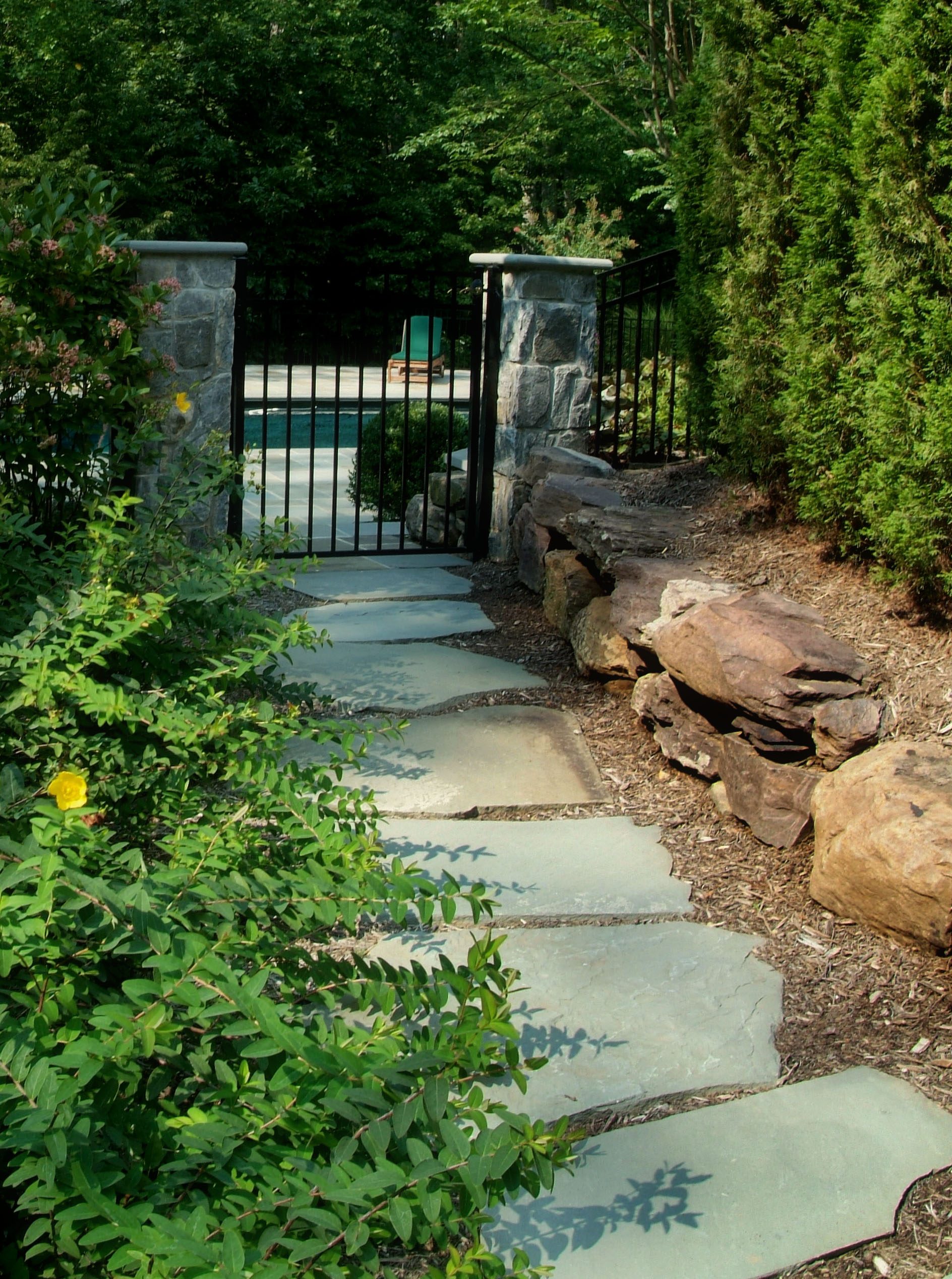 Flagstone Patio Pathways & Steppers @ Sisson Landscapes