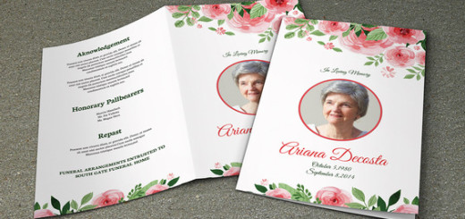 Funeral Program Template SiStec - funeral flyer template