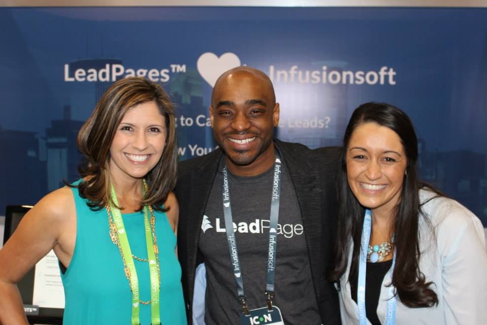 Chris L. Davis of LeadPages Marketing Automation with Rochelle & Chelsey of Sister Act Media