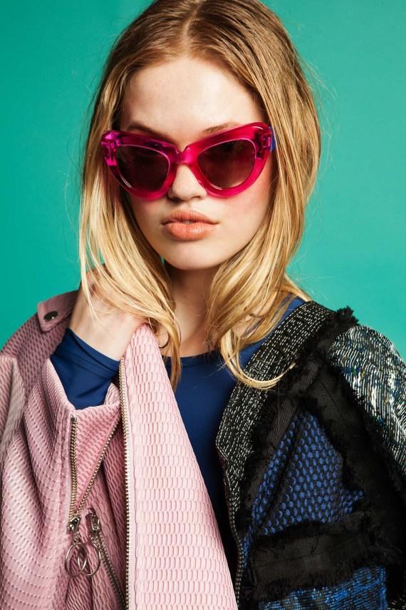 big pink sunglasses
