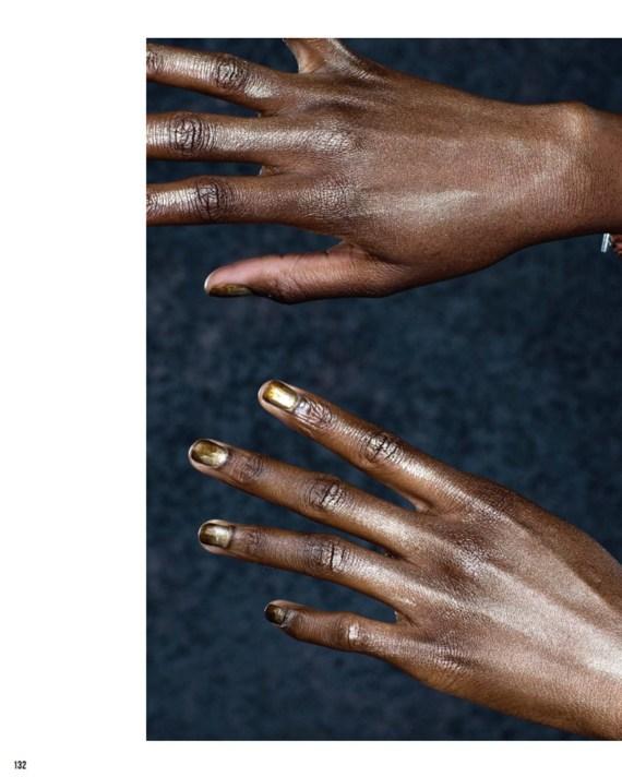 Faded gold nail polish