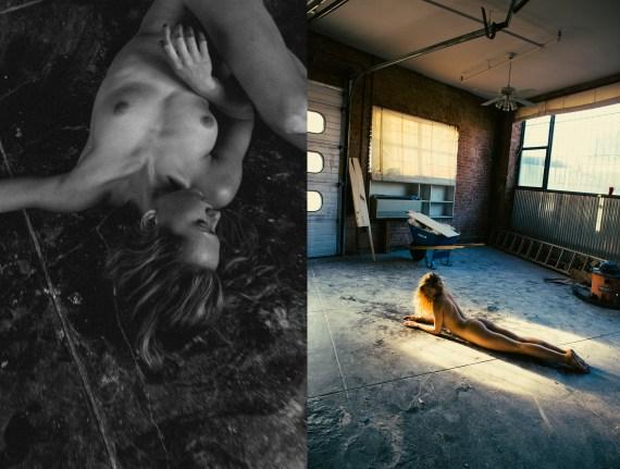 naked woman in loft