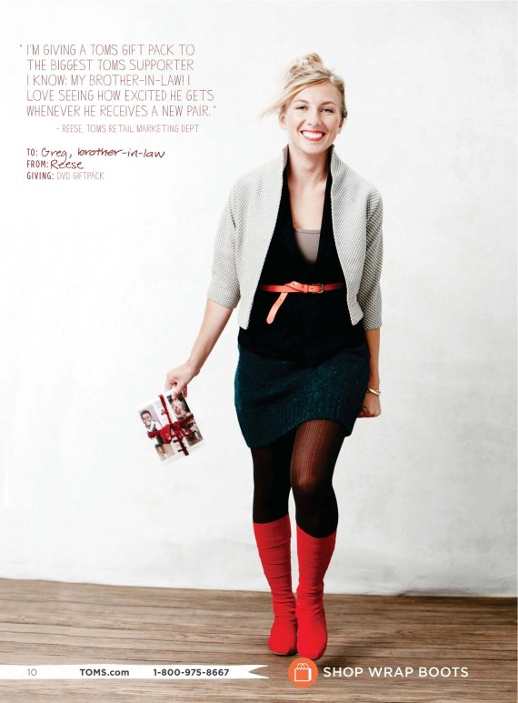 Holiday Advertisement for TOMS
