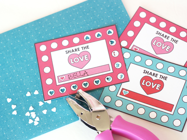 Printable Valentine Punch Cards - My Sisteru0027s Suitcase - Packed