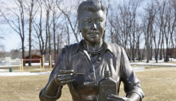 The old statue of Lucille Ball. Photo: Derek Gee/Buffalo News file photo.