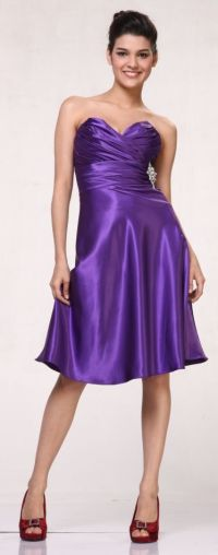 Purple And Silver Short Bridesmaid Dresses | www.imgkid ...
