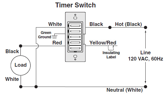 Timer Switches Wiring Diagrams Wiring Diagram