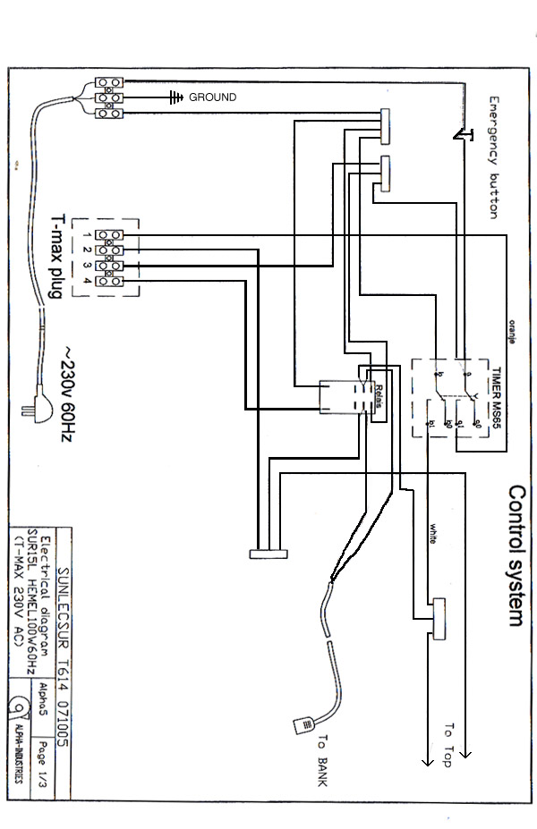 wiring diagram for tanning bed