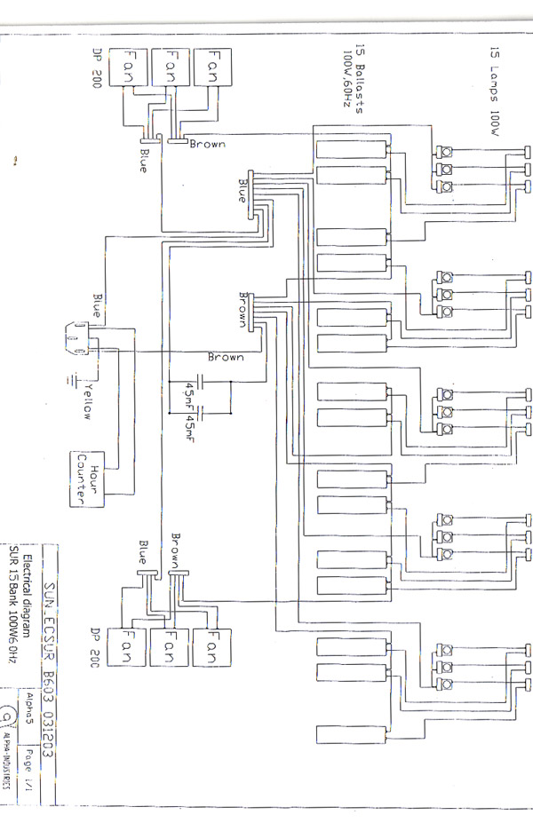 help with tanning bed electrical schematics