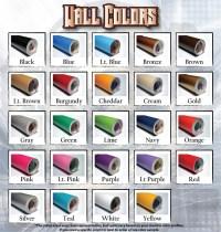 Color Samples - Die Cut Vinyl Decals & Stickers