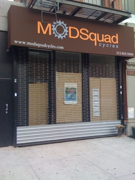 img 0107 ModSquad Bike Shop Sign is Up in Harlem