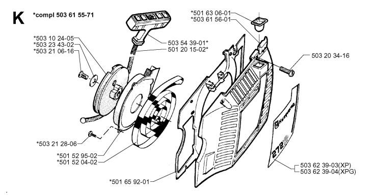 husqvarna 36 chainsaw 1994 parts diagram page 2