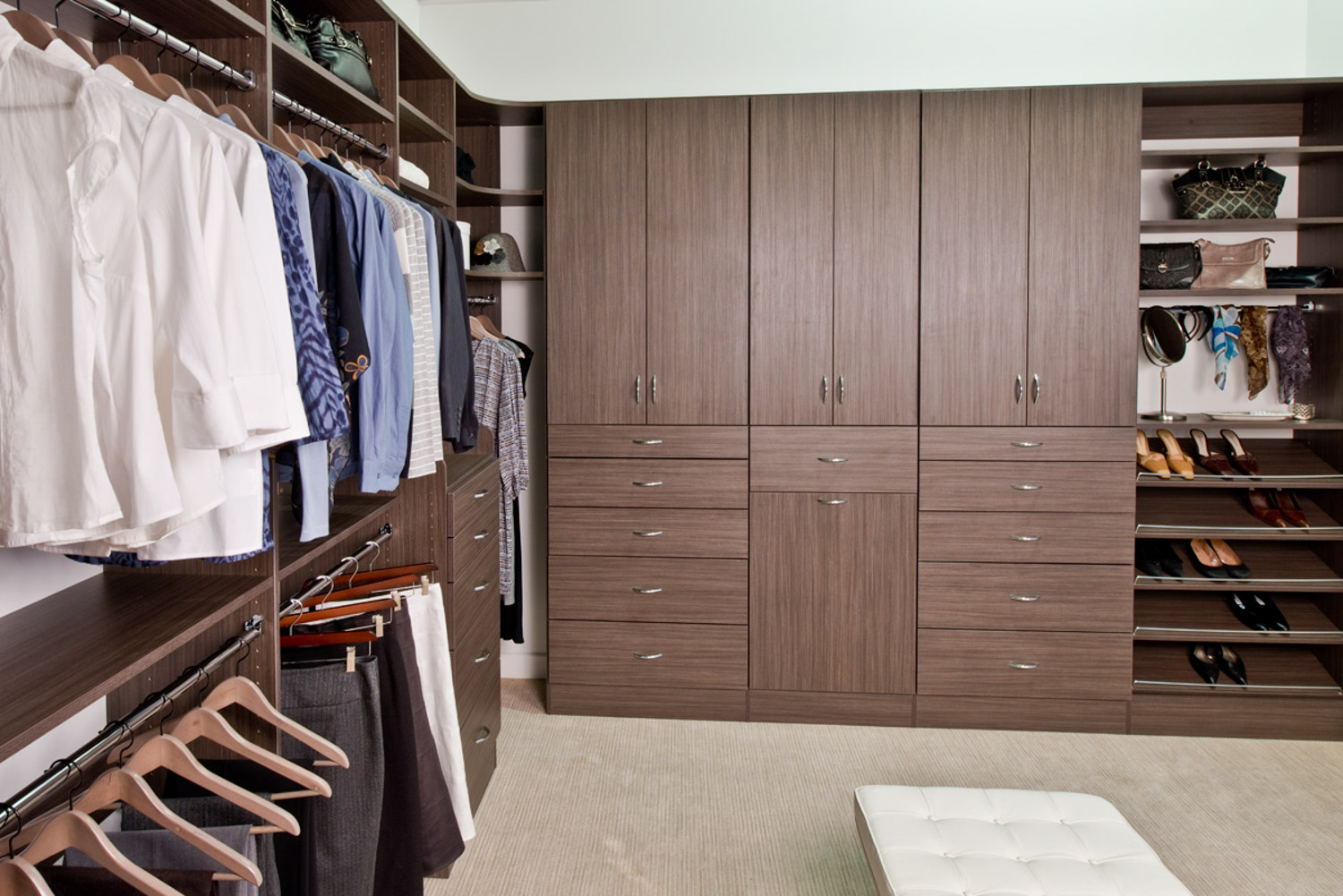 Walkin Closet Cabinets Organized Living Classica Wood Closets