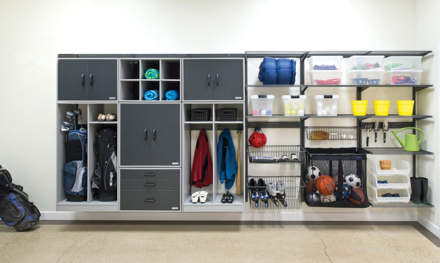 Garage Shelving Design Ideas Organized Living Garage Storage