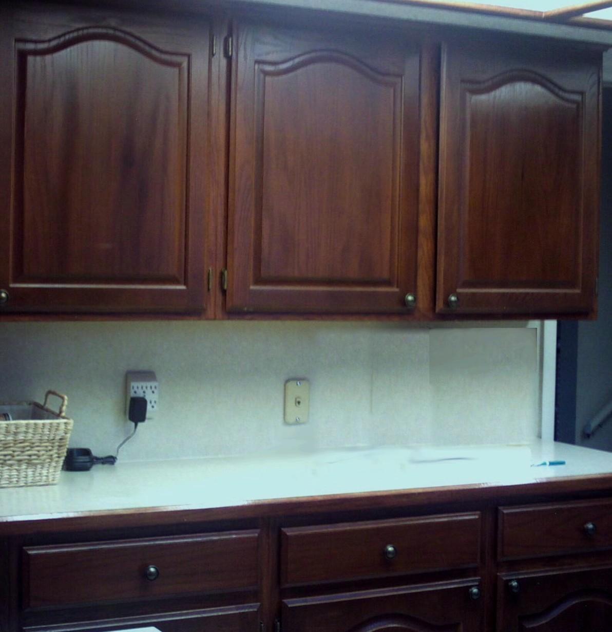 dark cabinet refinishing dark kitchen cabinets Kitchen cabinets and cupboards refinished in cherry wood color