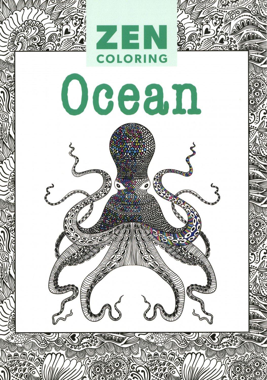 Zen coloring ocean