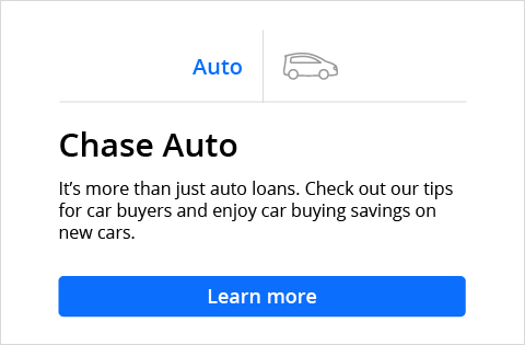 Credit Card, Mortgage, Banking, Auto Chase Online Chase