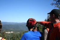 Looking at the landscape of the western Sierra Nevada Mountains.