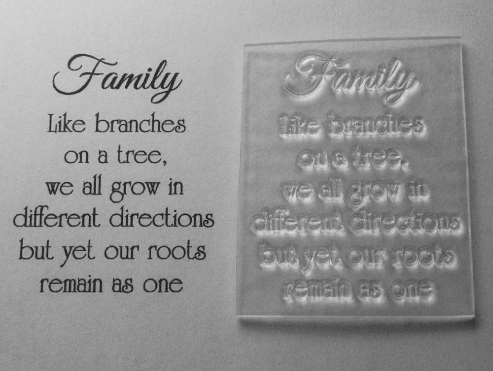 Wedding Invitation Font Ideas Family, Like Branches On A Tree, Clear Verse Stamp