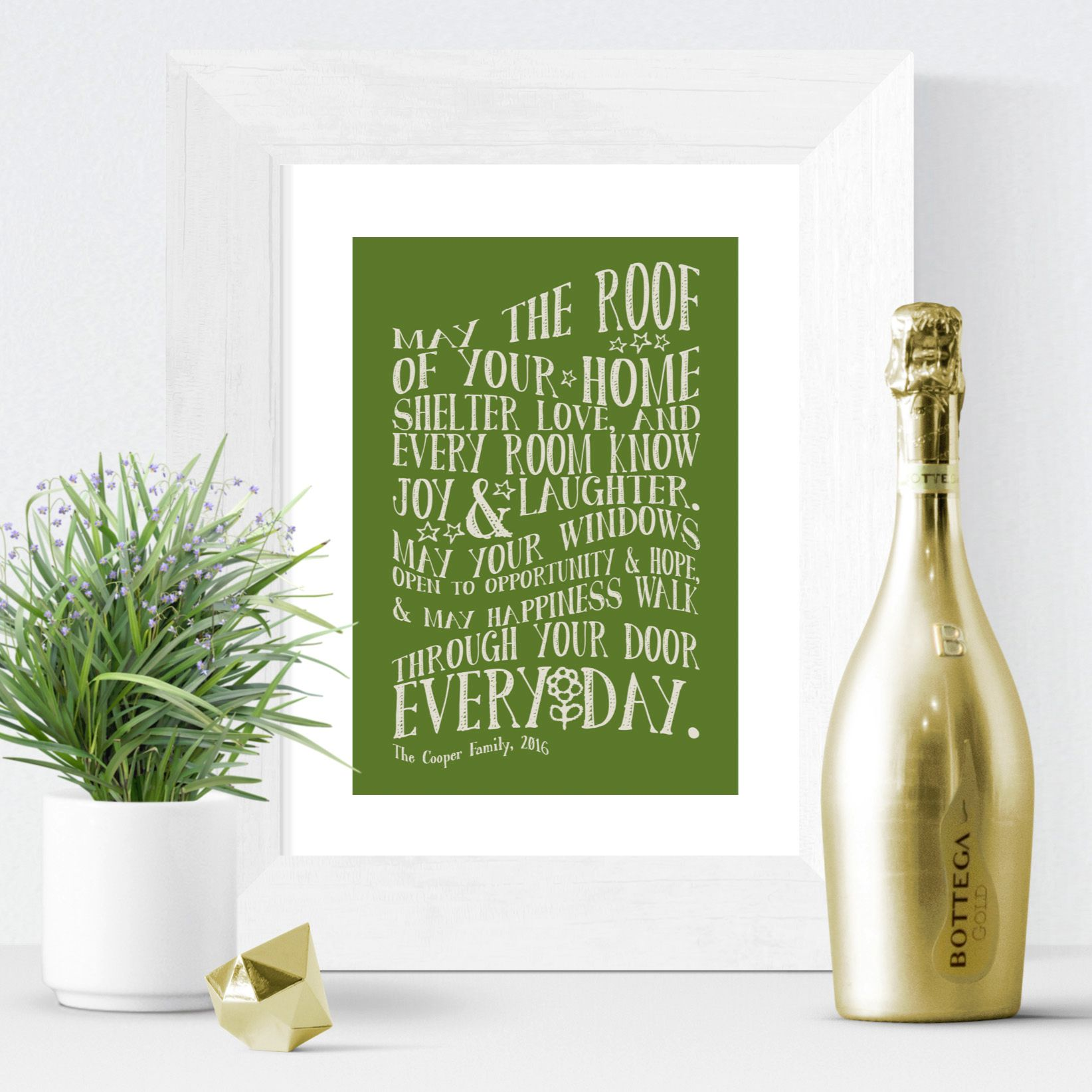 Personalised New Home Gifts Moving House Gift Personalised New Home Prints