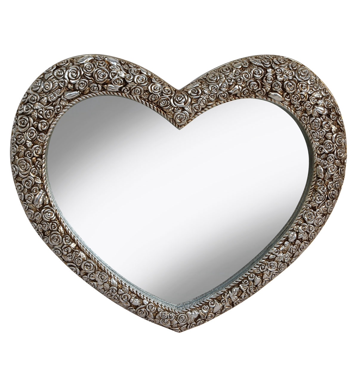 Unique Shaped Mirror Heart Shaped Decorative Framed Mirror In Bronze By