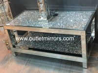 stunning silver crush sparkle wall mirror by outletmirrors ...
