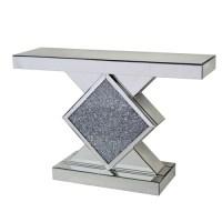 *Diamond Crush Sparkle Crystal Console Table 120cm