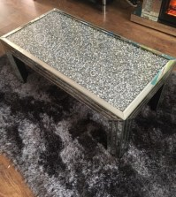 stunning silver diamond crush sparkle coffee table by ...