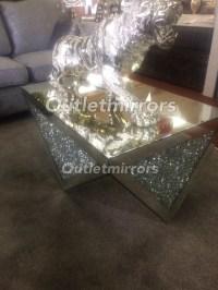 * New Diamond Crush Sparkle Crystal Mirrored rectangular ...