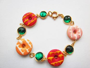 Design Your Own Bracelet Party Ring Biscuit Gemstone Bracelet
