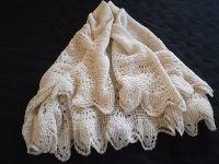 Vintage Hand Knitted Shetland Lace Shawl | Vintage ...