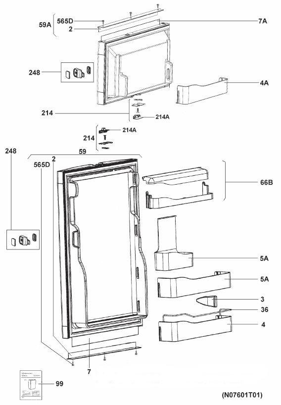 refrigerator parts refrigerator parts diagram