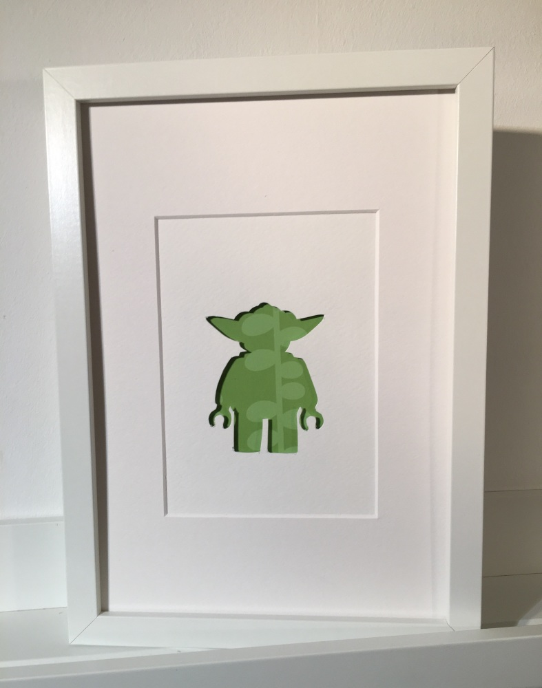 Large Frame Picture Green Yoda Large Frame 23x32cm