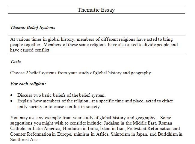 Thematic Essay On Belief Systems - Thematic essay belief systems