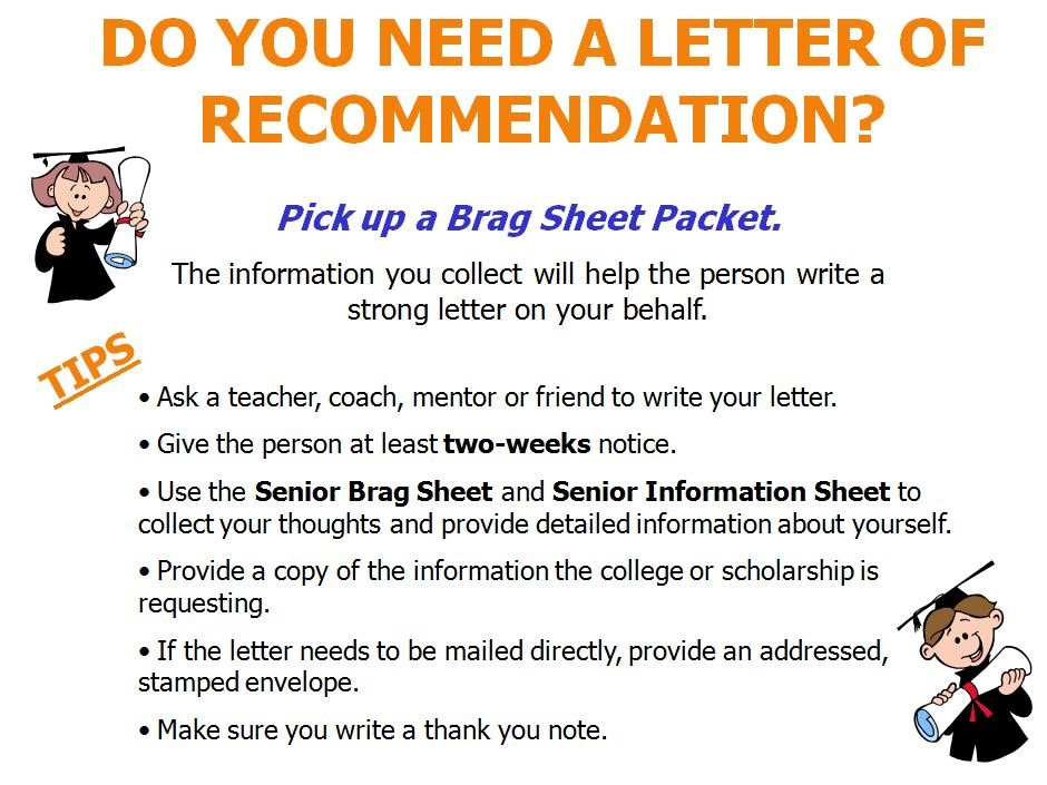 Letters of Recommendation - VHS Guidance Department