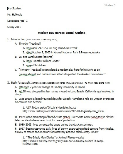 4 Initial Outline - Ms Halkovic\u0027s Website