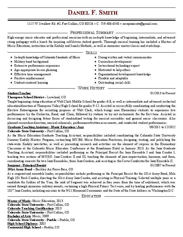 Résumé - Daniel F Smith\u0027s E-Portfolio