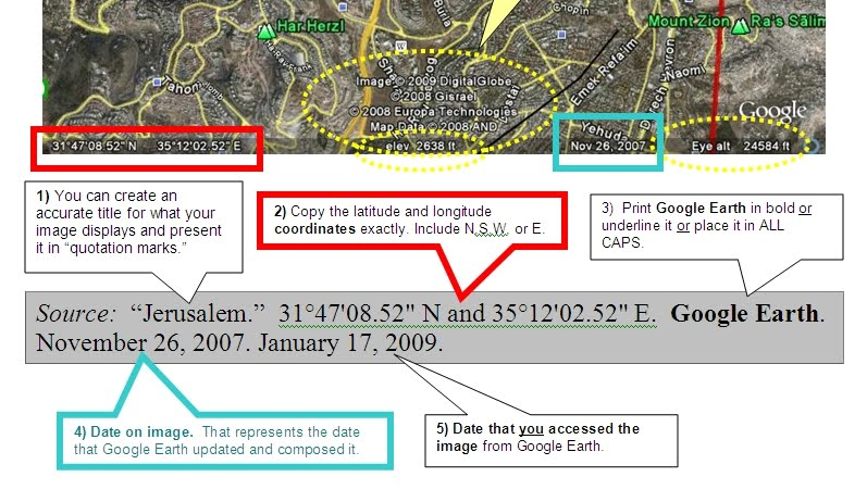 Citing Google Earth - MS Citation Central
