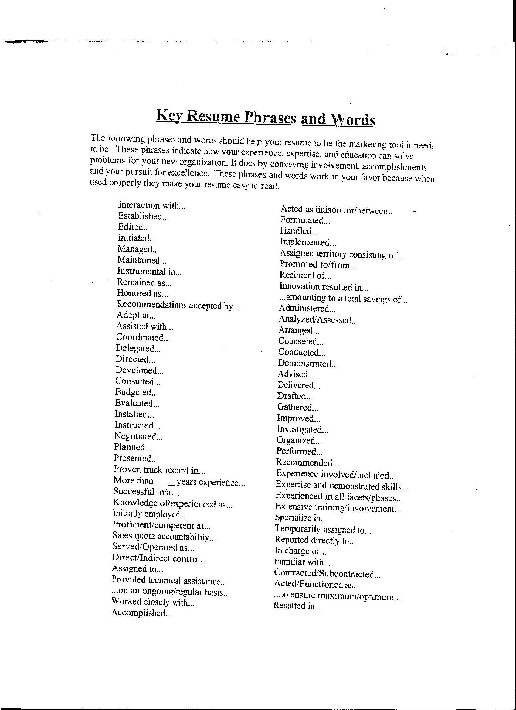 resume action words list by category professional resume cover resume action words list by category selling yourself in a resume action words dummies action