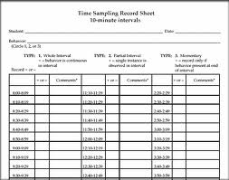 Rubric System Time Sampling Event Sampling And Anecdotal
