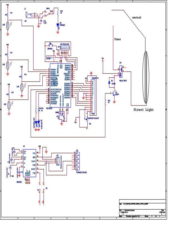 Circuit Diagram Automatic Street Light Control System - eceprojects