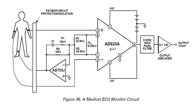 ecg circuit diagram projects
