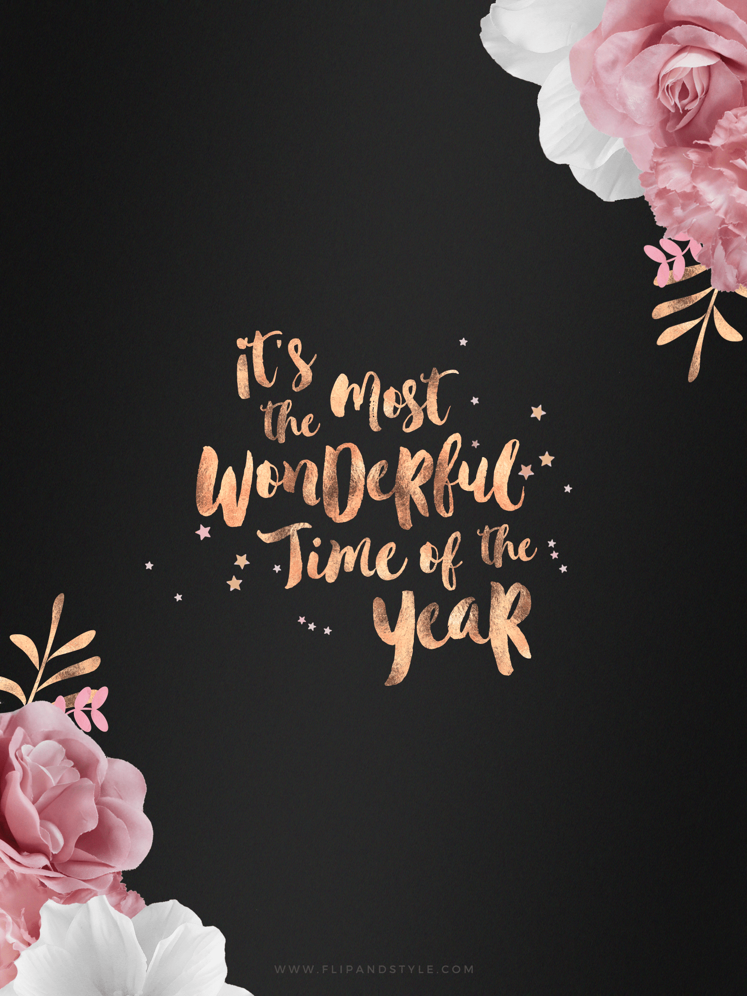 Girly Phone Wallpapers Quotes Free Rose Gold Festive Wallpapers