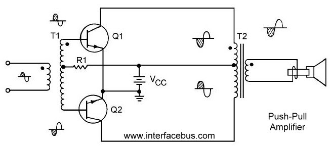 transistor power amplifier circuit