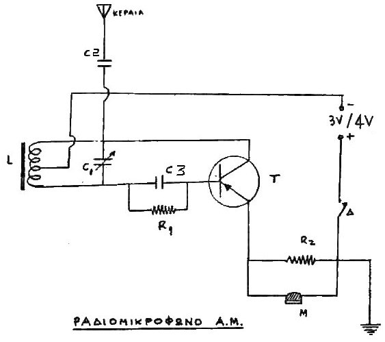 the circuit diagram of am short wave radio frequency calibrator