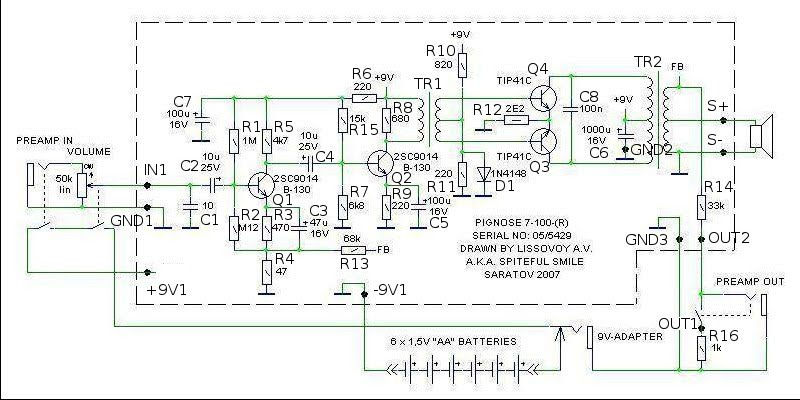 pignose 7 100 wiring diagram